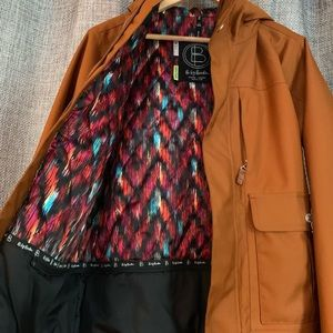 Very warm Burton burnt orange winter jacket